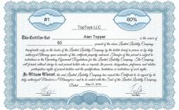 004 Singular Free Stock Certificate Template Design  Word Form Downloadable