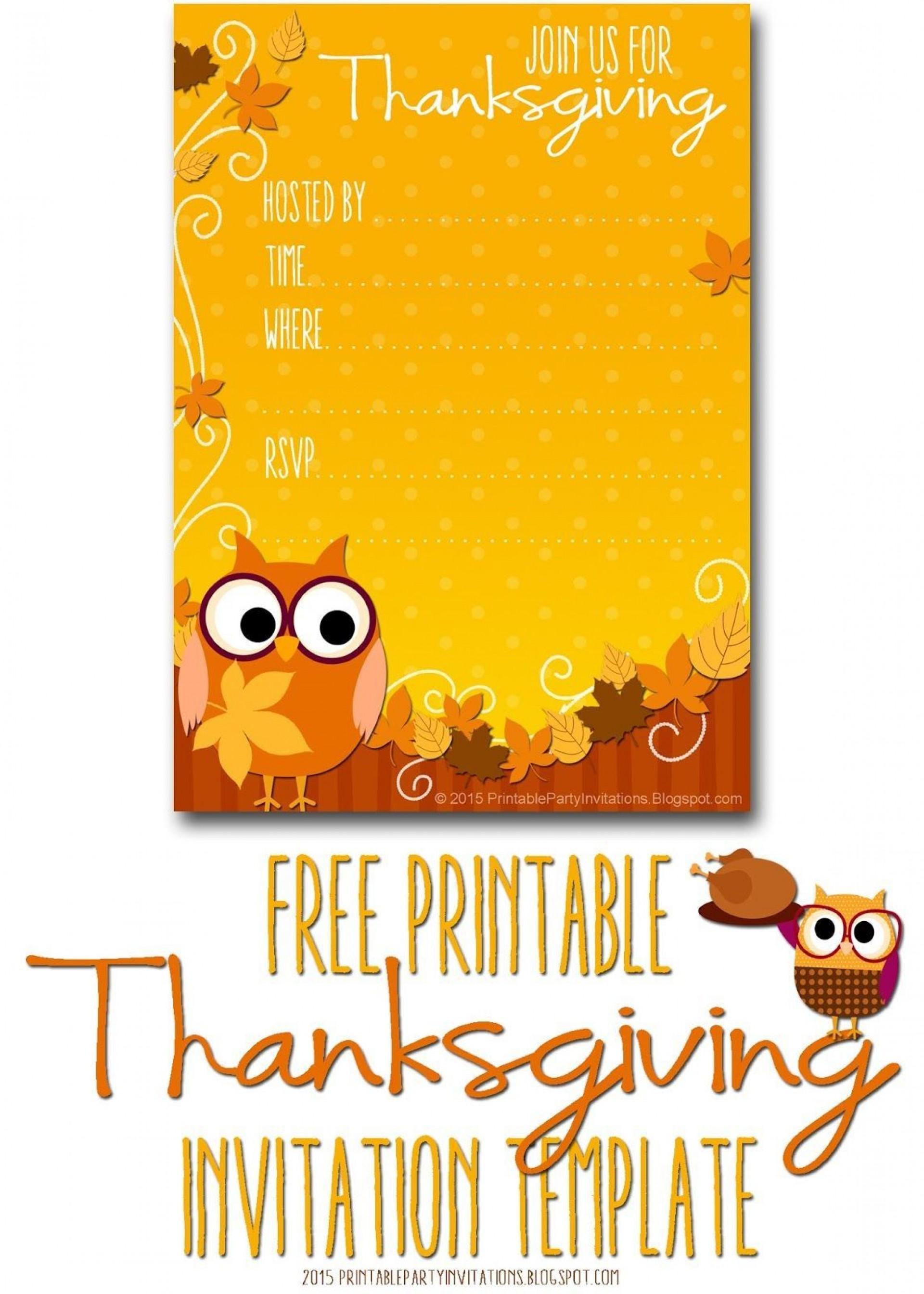 004 Singular Free Thanksgiving Invitation Template Design  Templates Printable Dinner Download Potluck1920