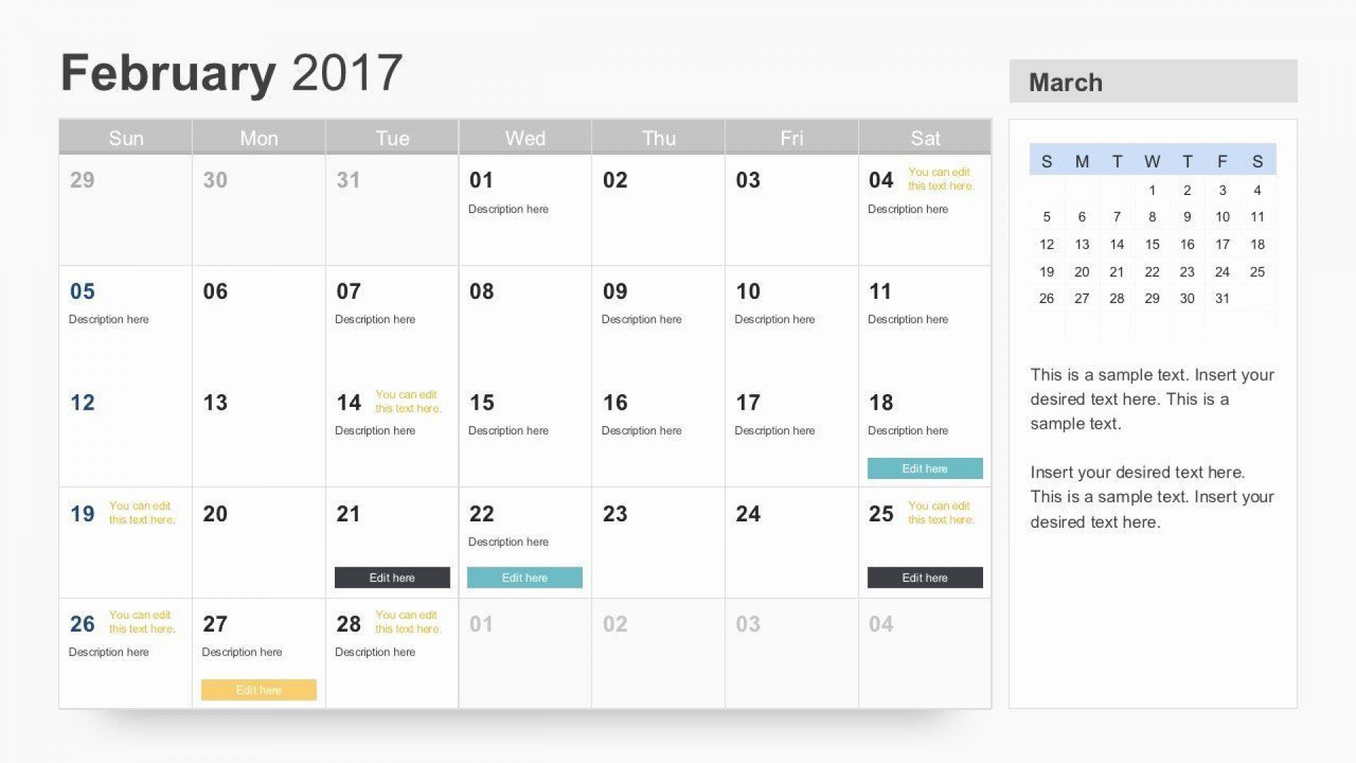 004 Singular Google Calendar Template 2017 Concept 1920