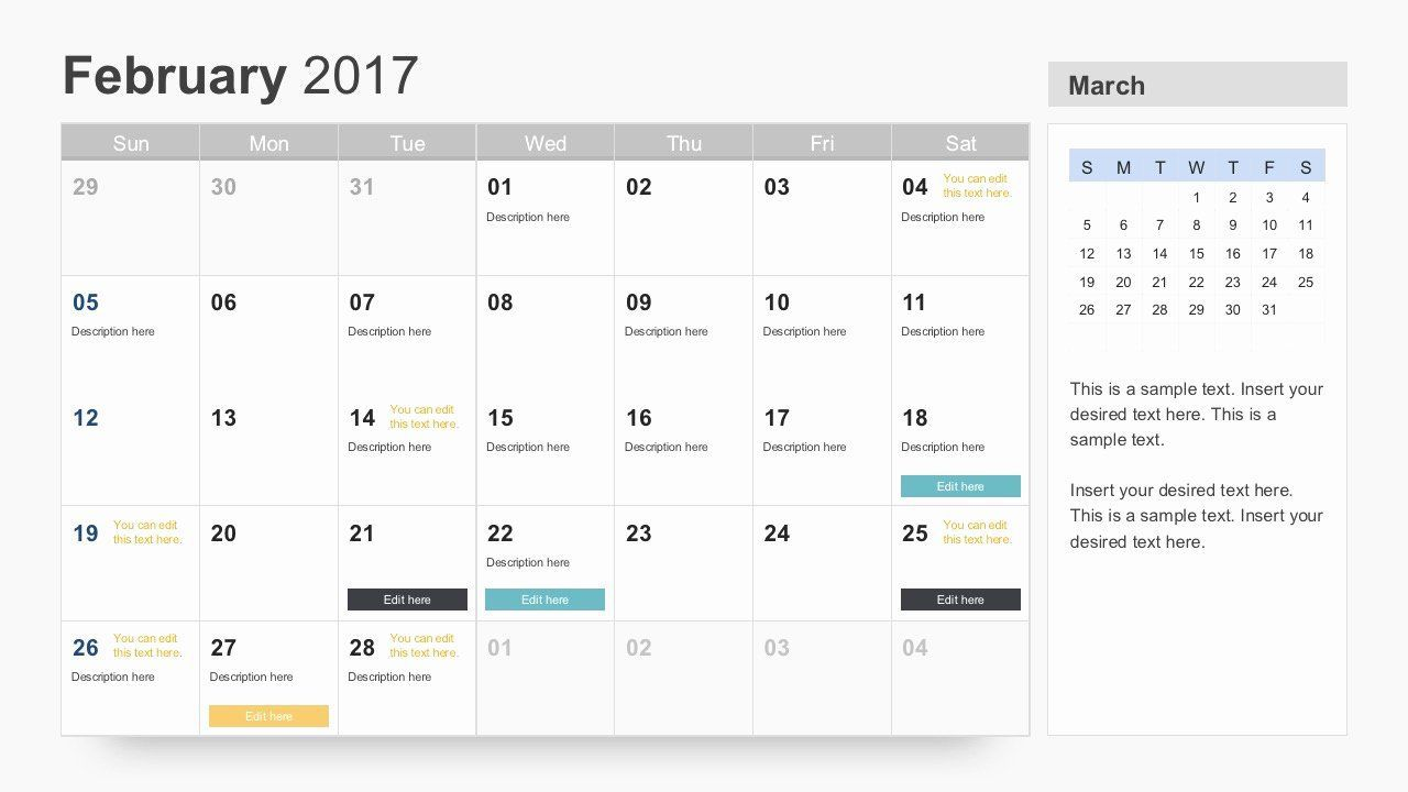 004 Singular Google Calendar Template 2017 Concept Full