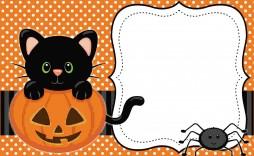 004 Singular Halloween Party Invitation Template Highest Quality  Microsoft Block October