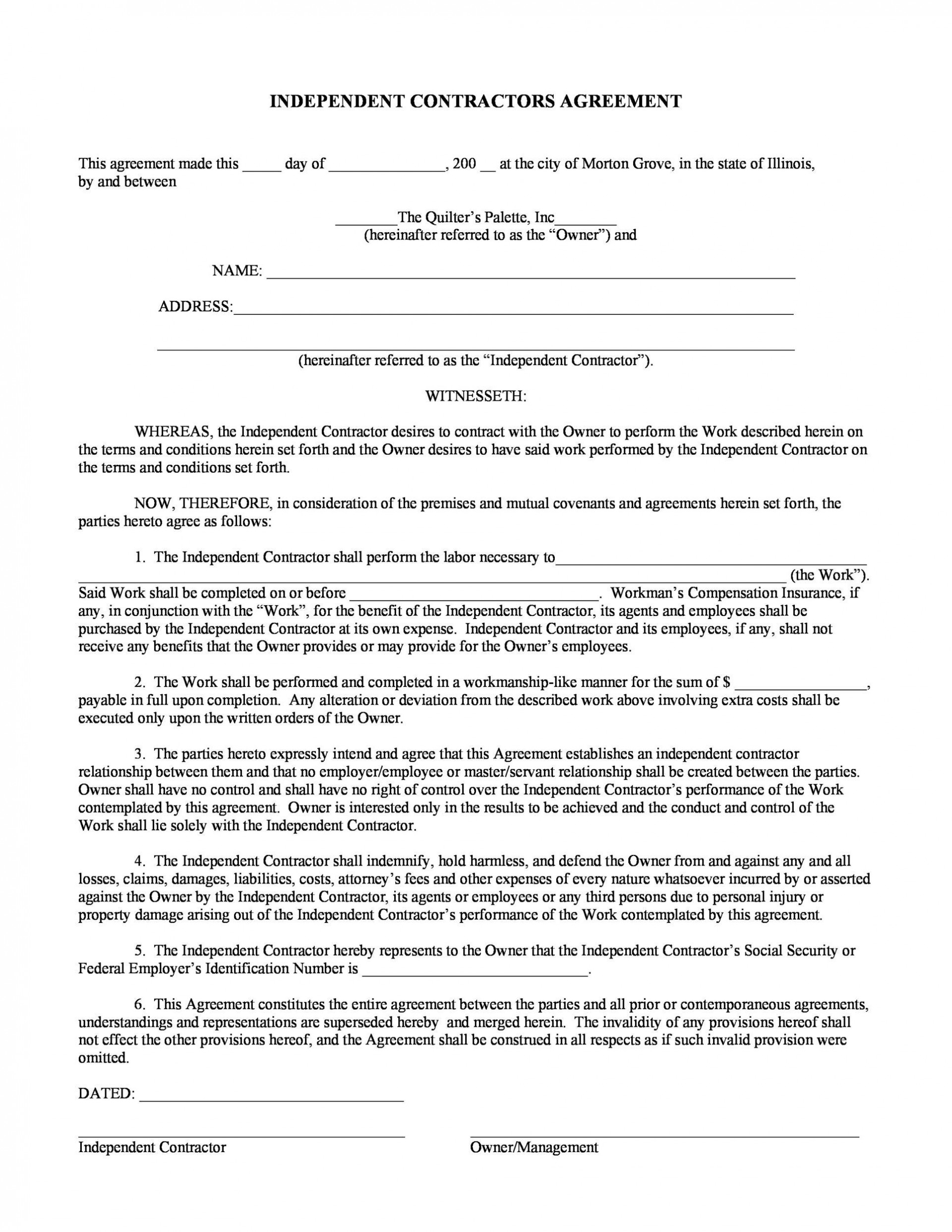 004 Singular Independent Consultant Contract Template High Def  Free Contractor Consulting Agreement South Africa1920