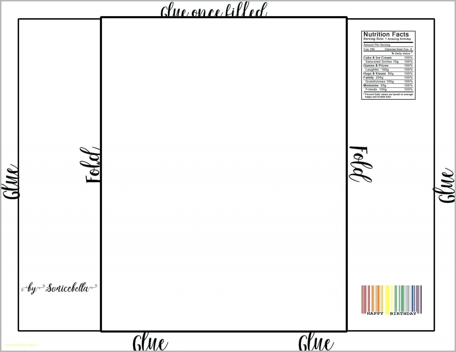 004 Singular Printable Candy Bar Wrapper Template Word Example  Free For1920