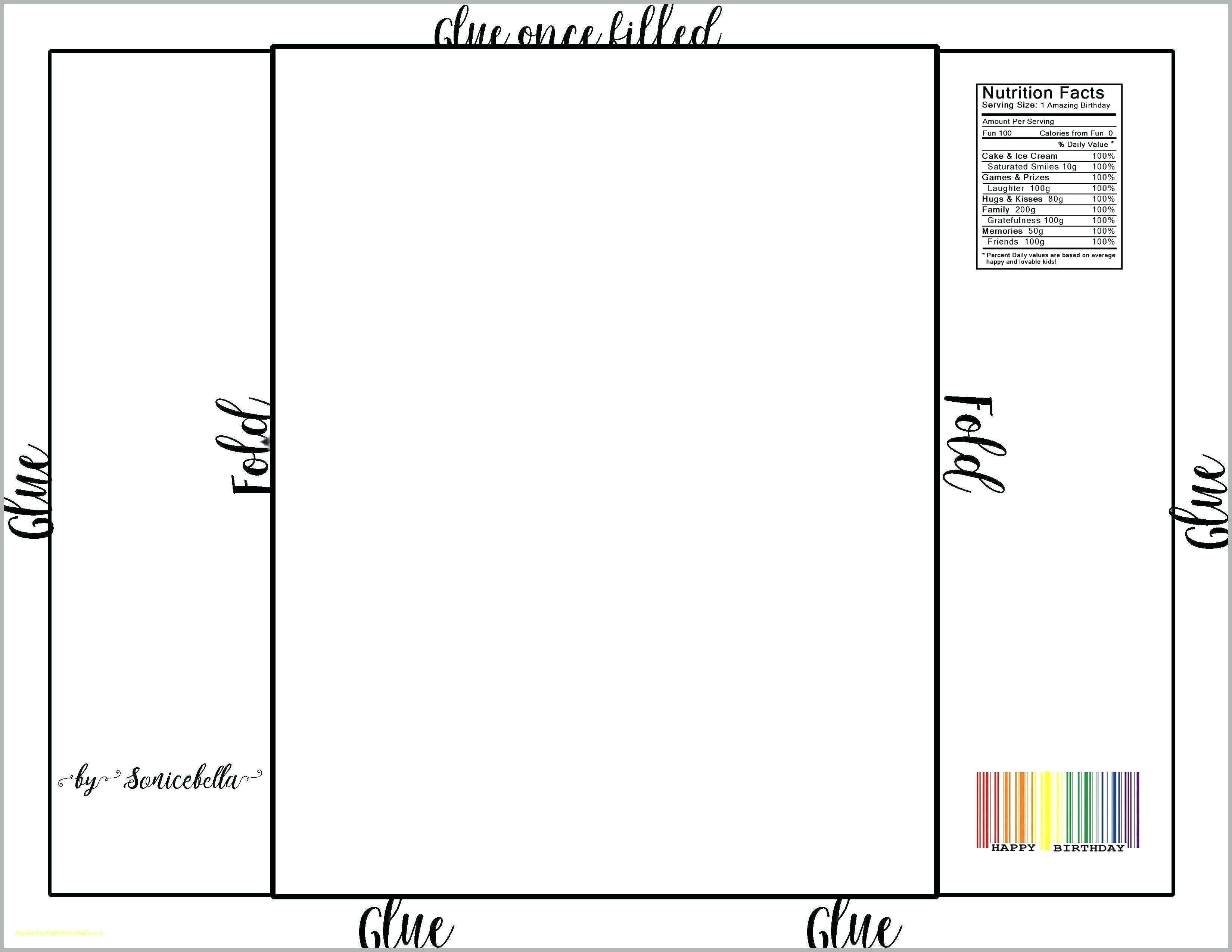 004 Singular Printable Candy Bar Wrapper Template Word Example  Free ForFull