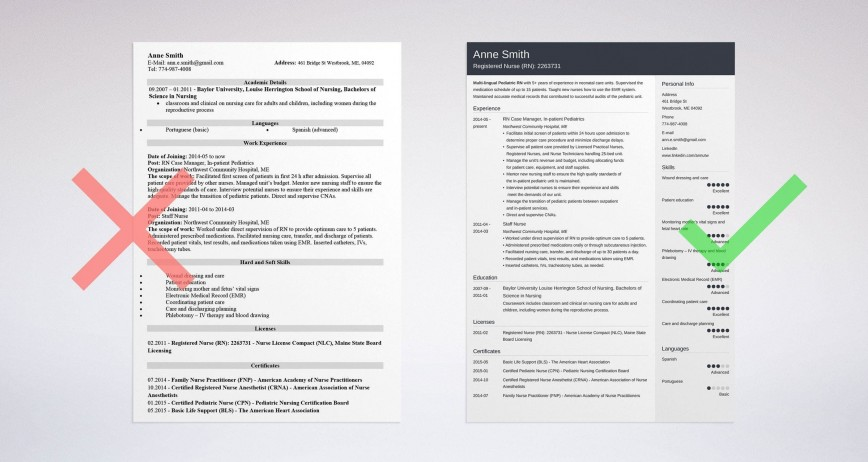 004 Singular Resume Template For Nurse Highest Quality  Sample Nursing Assistant With No Experience Rn' Free868
