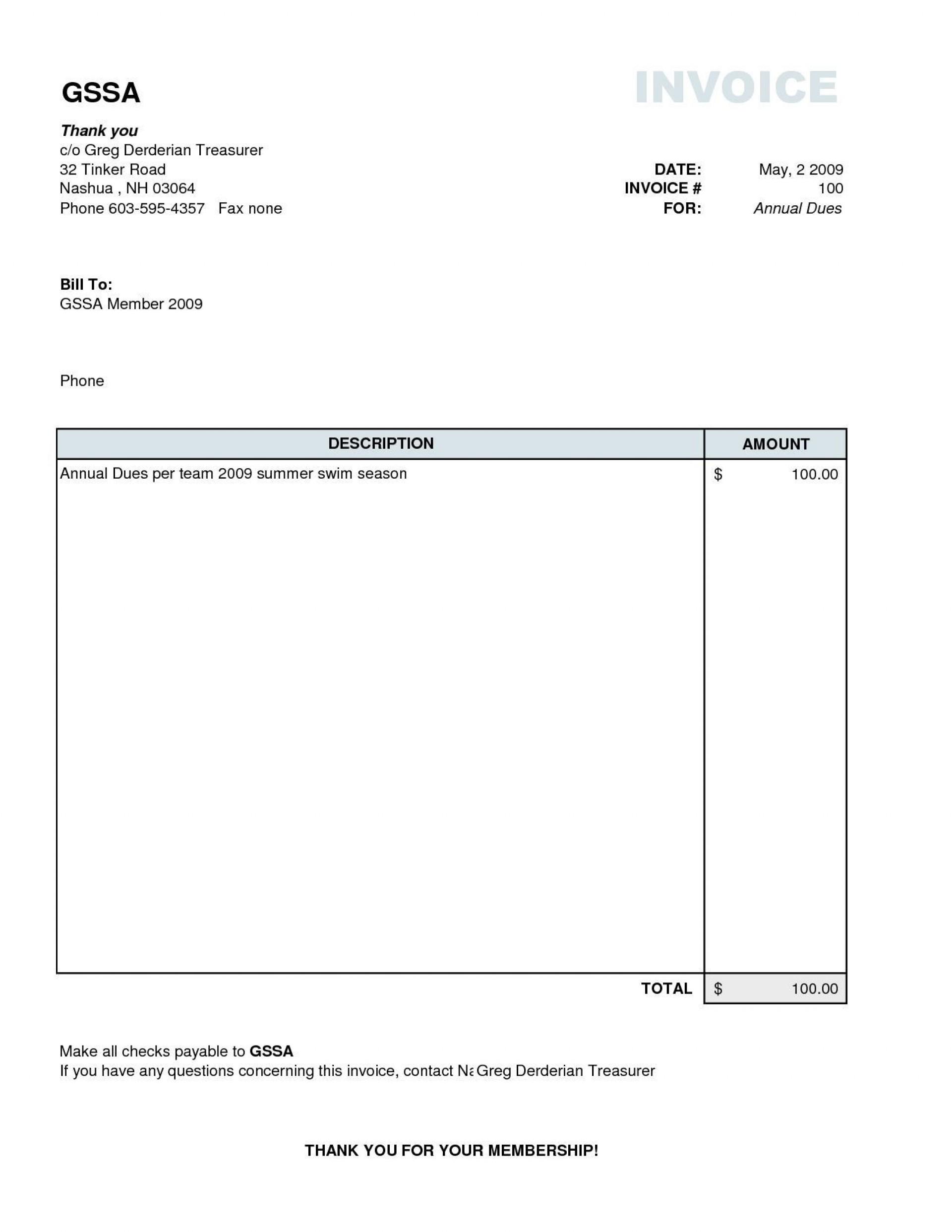 004 Singular Simple Invoice Template Word Picture  Cash Receipt Doc Download Microsoft1920