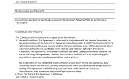 004 Singular Subcontractor Contract Template Free Example  Uk
