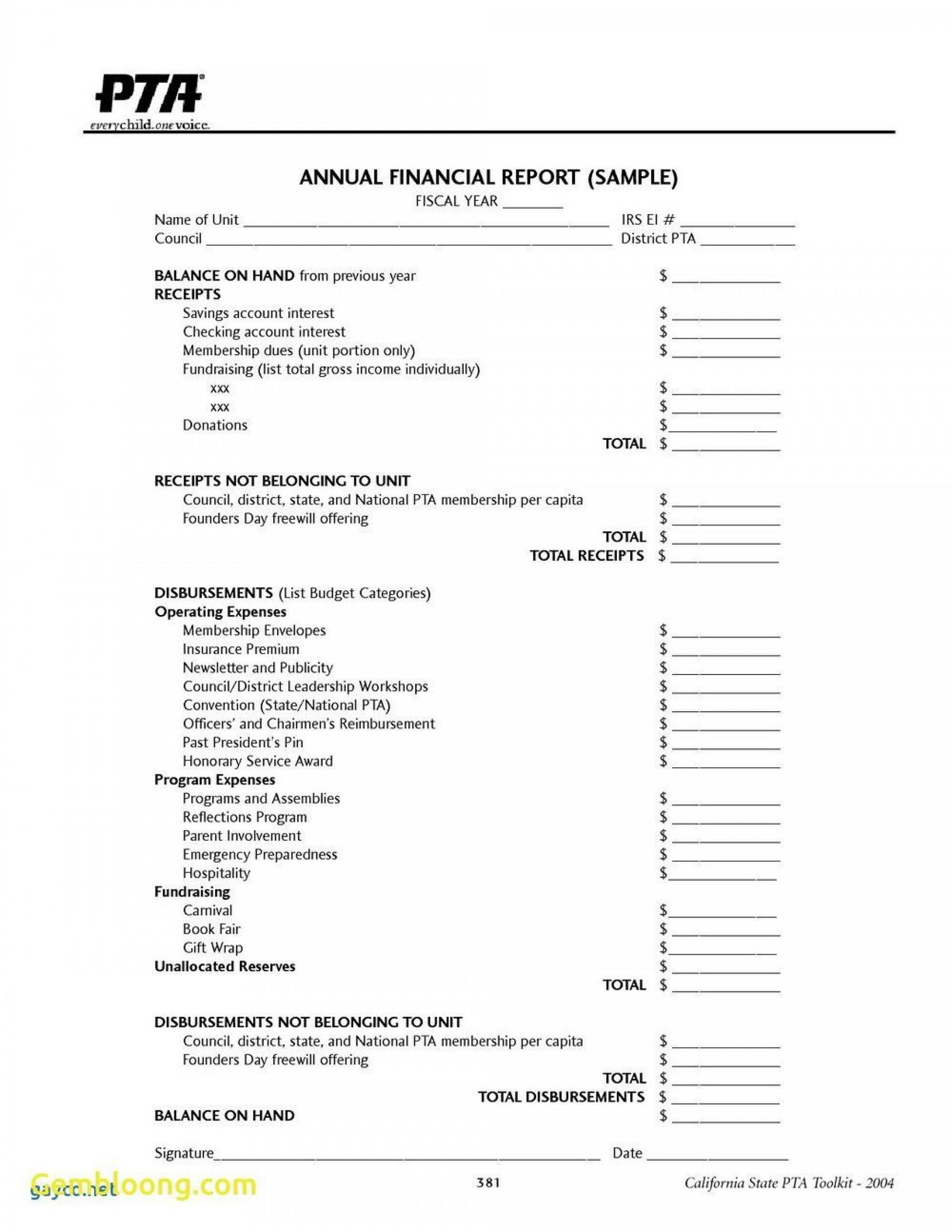 004 Singular Treasurer Report Template Non Profit Design  Treasurer' Word Free For Nonprofit Organization1920