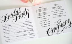 004 Singular Trifold Wedding Program Template Picture  Tri Fold Word Folded Example