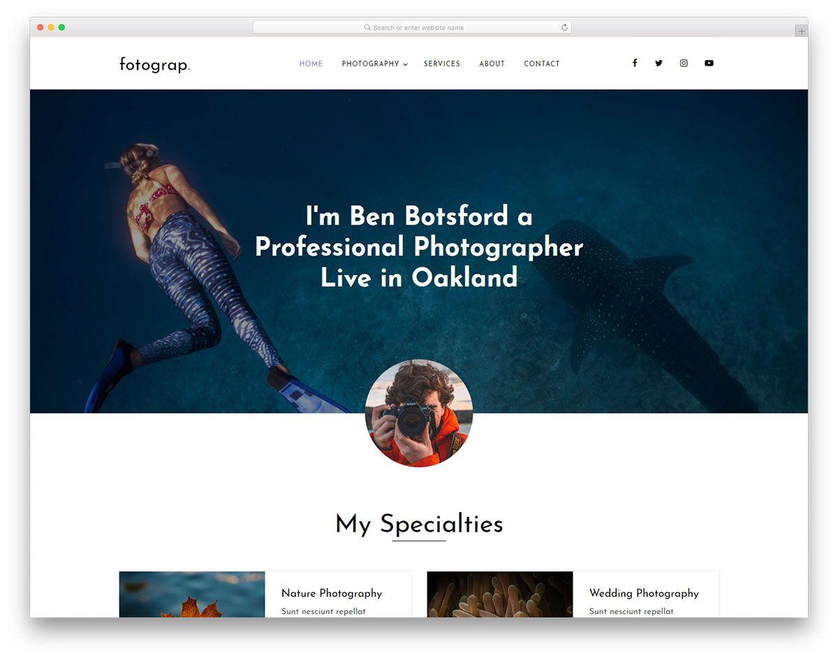 004 Singular Web Template For Photographer High Definition  Photographers Photography FreeFull
