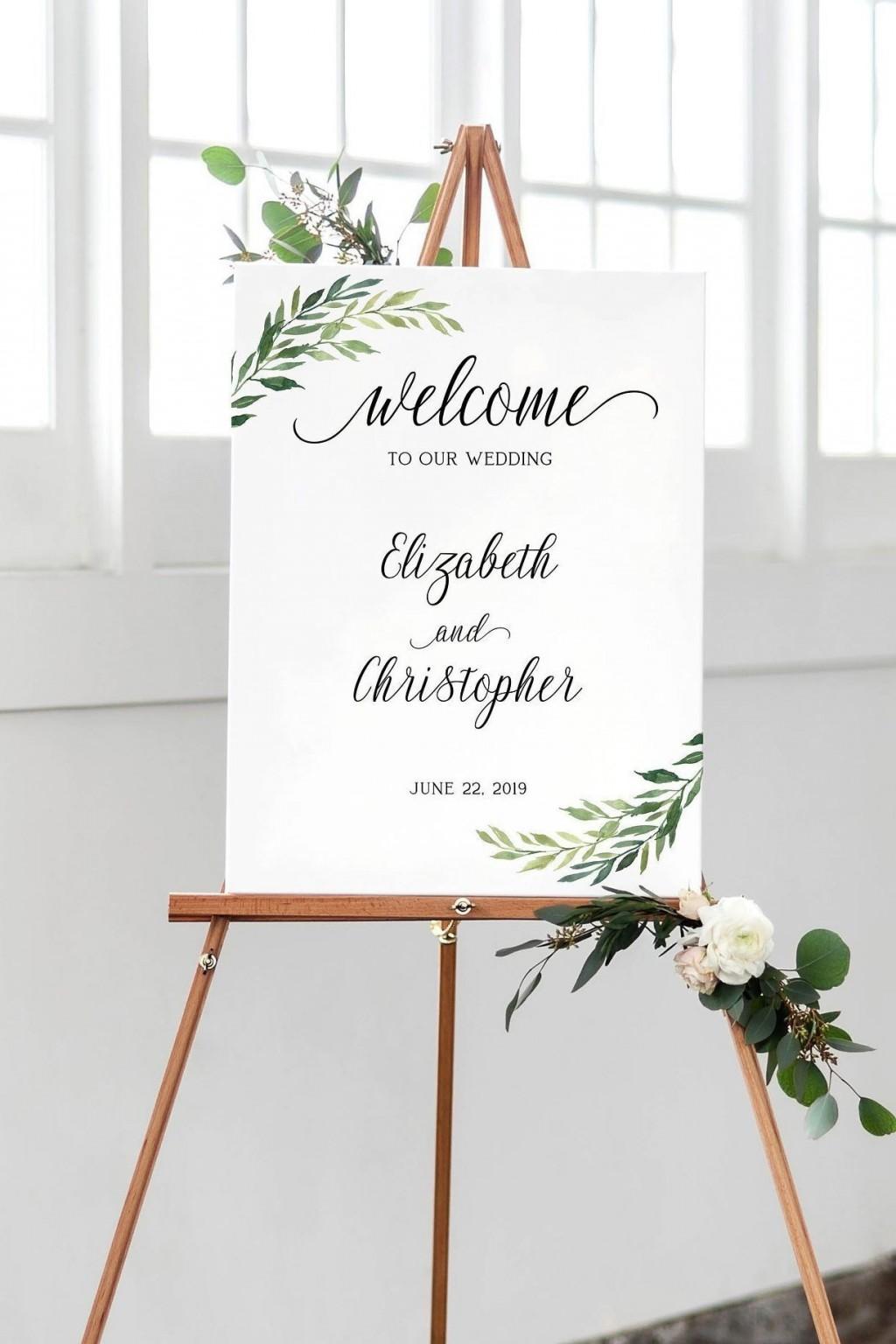 004 Singular Wedding Welcome Sign Printable Template Concept  FreeLarge