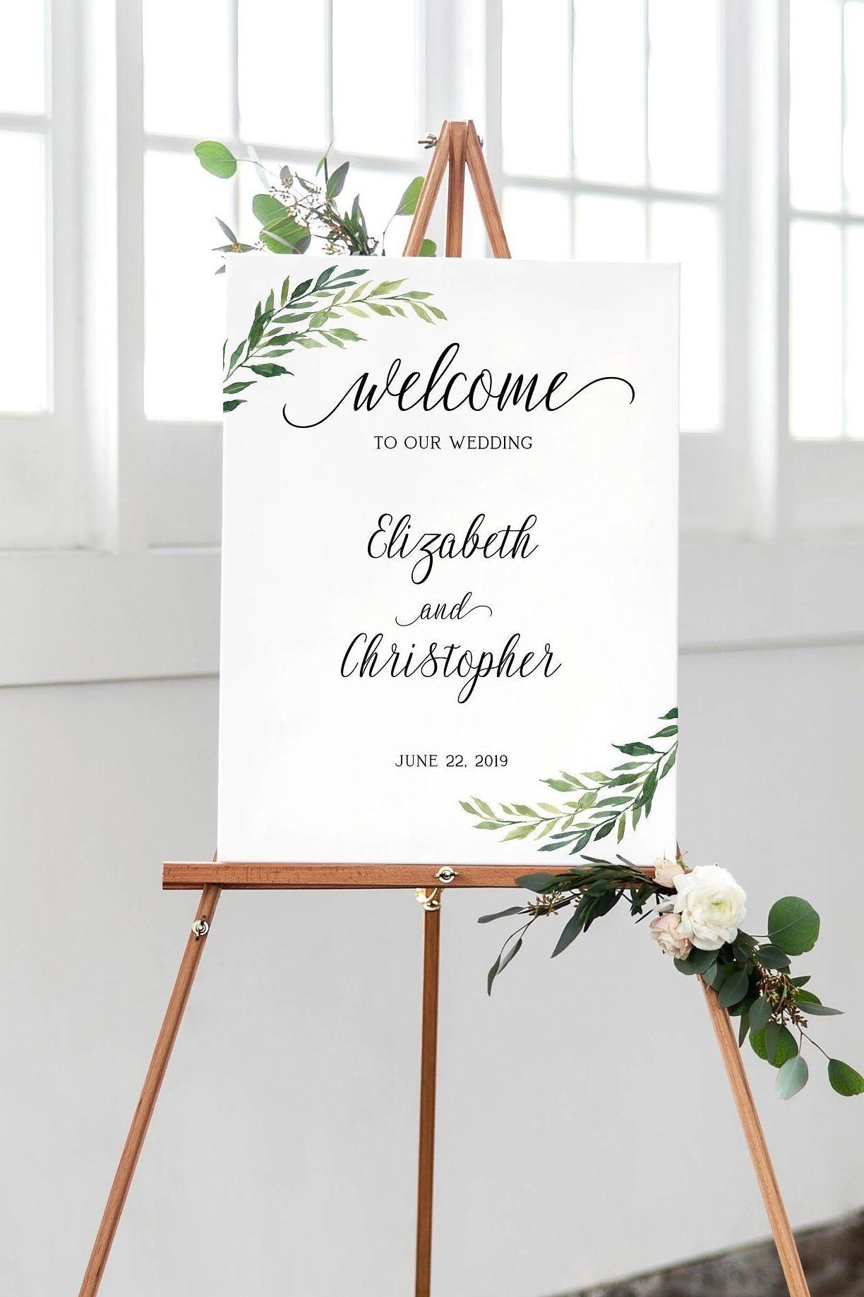 004 Singular Wedding Welcome Sign Printable Template Concept  FreeFull