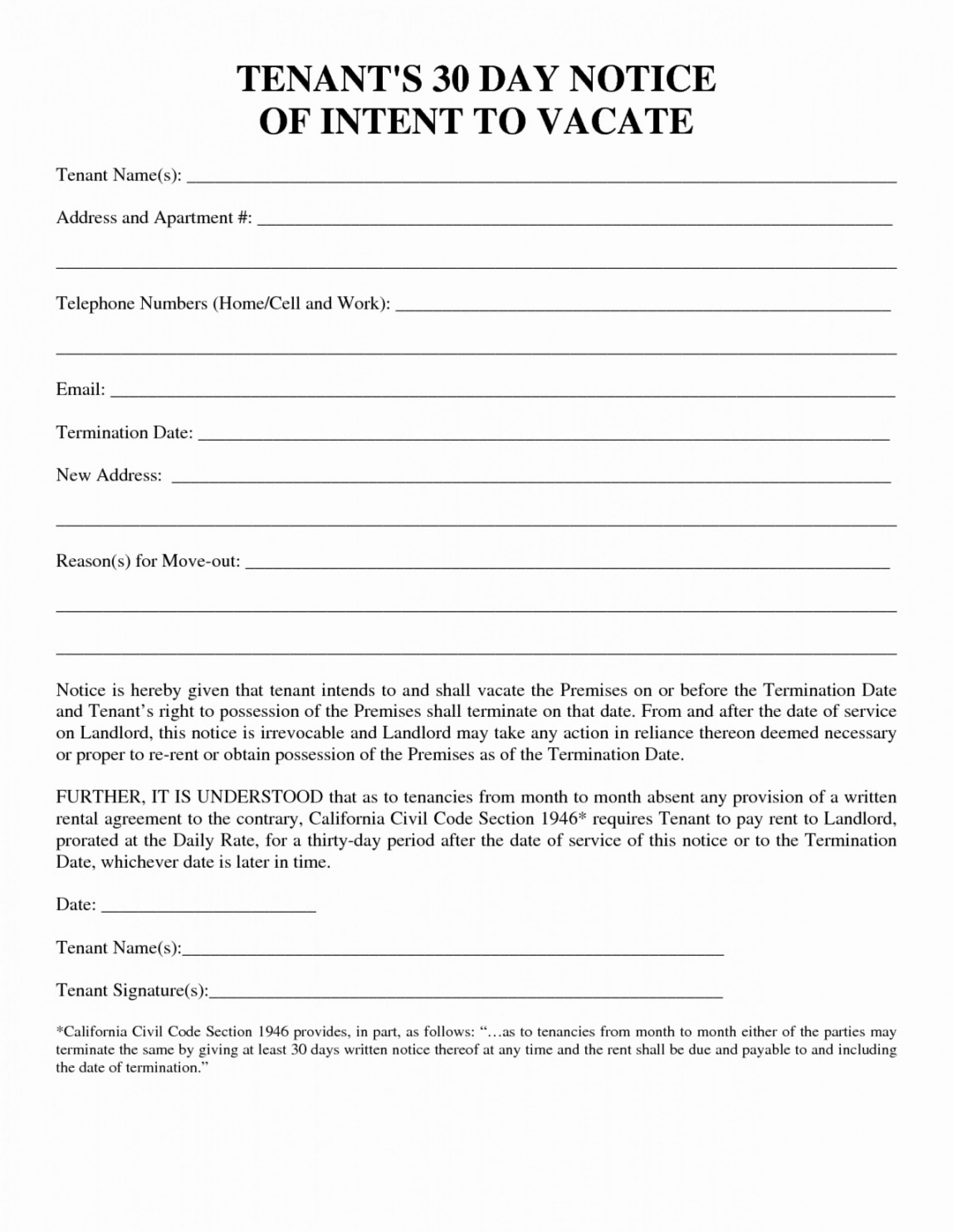 004 Staggering 30 Day Eviction Notice Template Example  Pdf Form1920