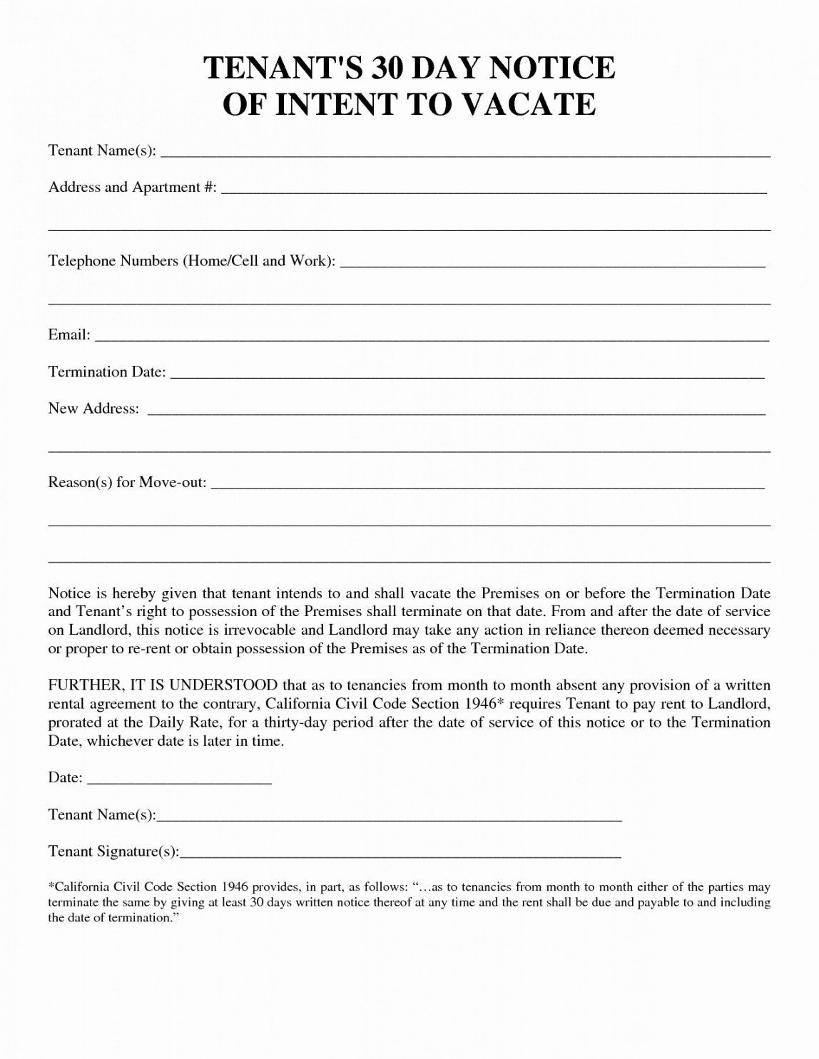 004 Staggering 30 Day Eviction Notice Template Example  Pdf FormFull