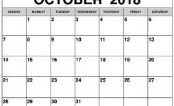 004 Staggering Calendar Template October 2018 Word Inspiration