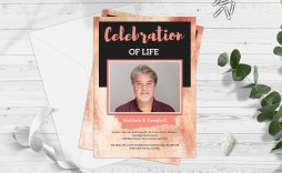 004 Staggering Celebration Of Life Template Image  Powerpoint Program Download Announcement Free