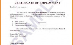 004 Staggering Certificate Of Employment Template High Def  Nz Sample Word Format Free