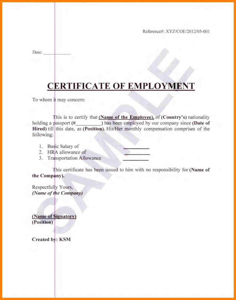 004 Staggering Certificate Of Employment Template High Def  Nz Sample Word Format FreeFull