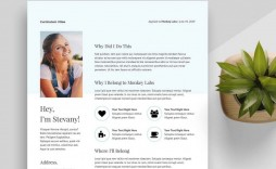 004 Staggering Creative Resume Template M Word Free Image