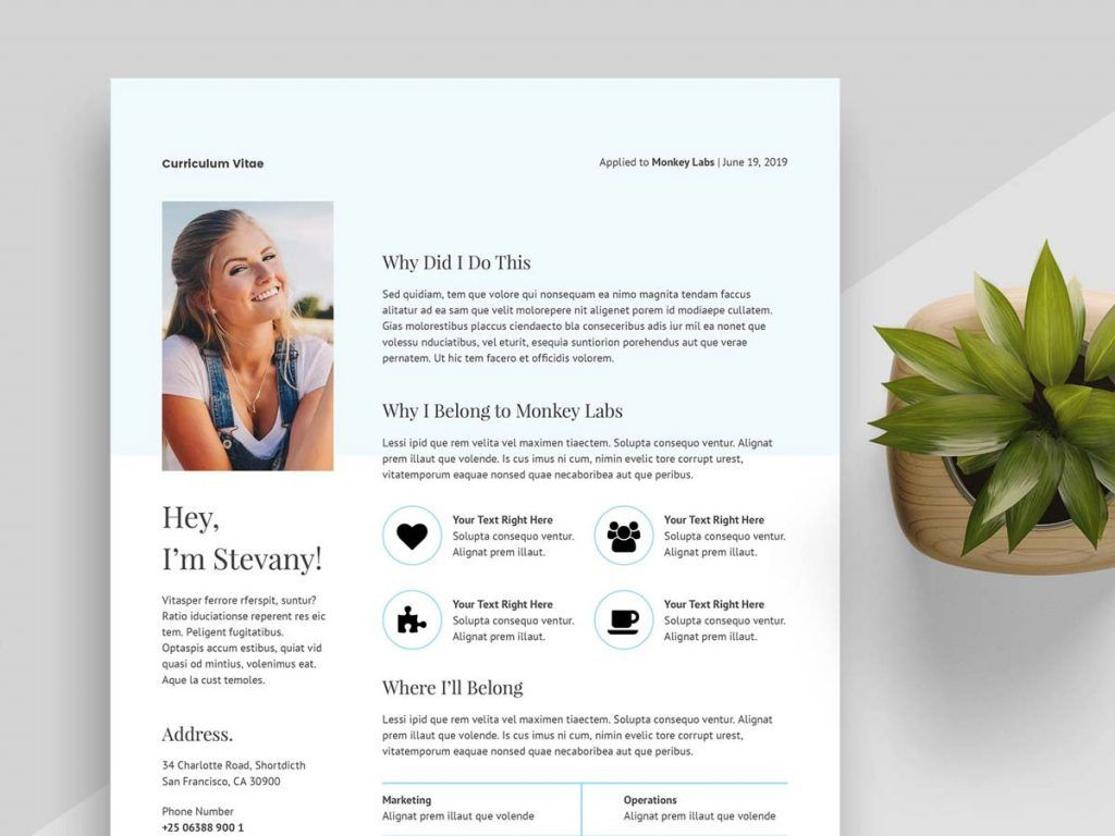 004 Staggering Creative Resume Template M Word Free Image Full