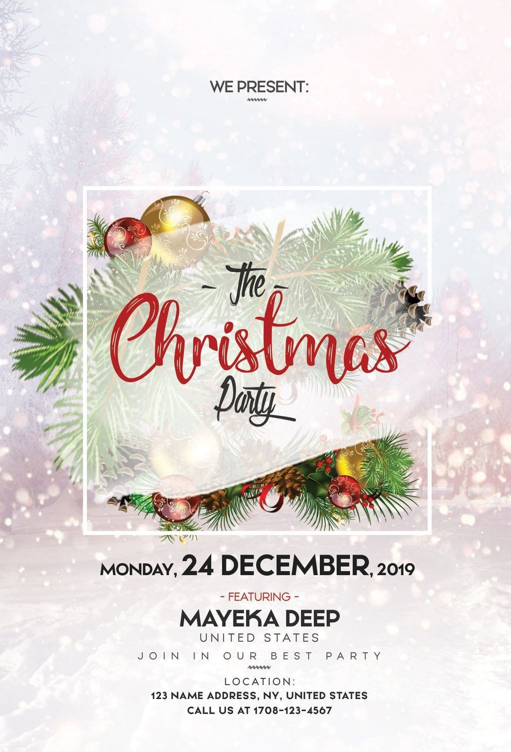 004 Staggering Free Christma Poster Template High Def  Uk Party Download FairLarge