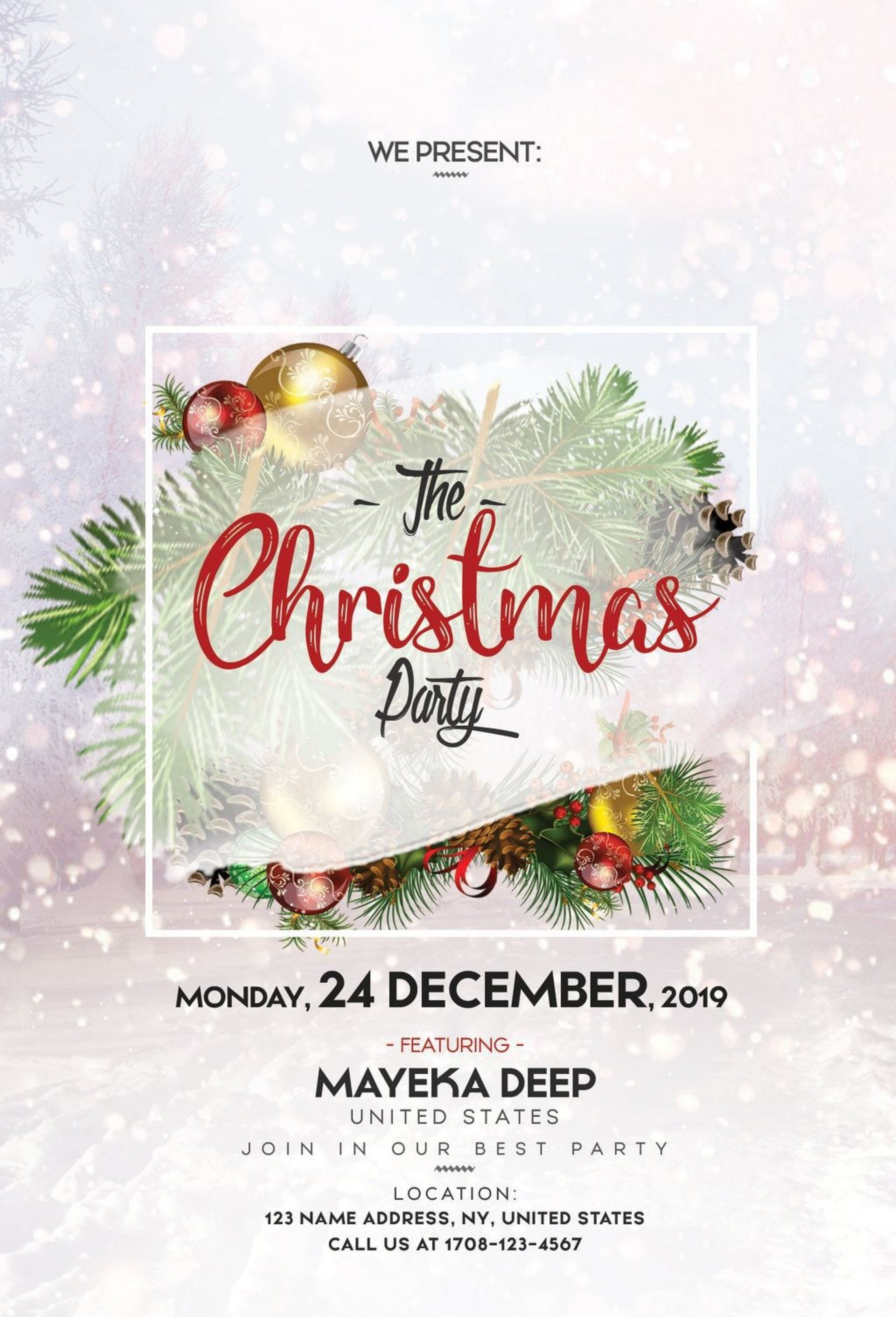 004 Staggering Free Christma Poster Template High Def  Templates Psd Download Design Word1920