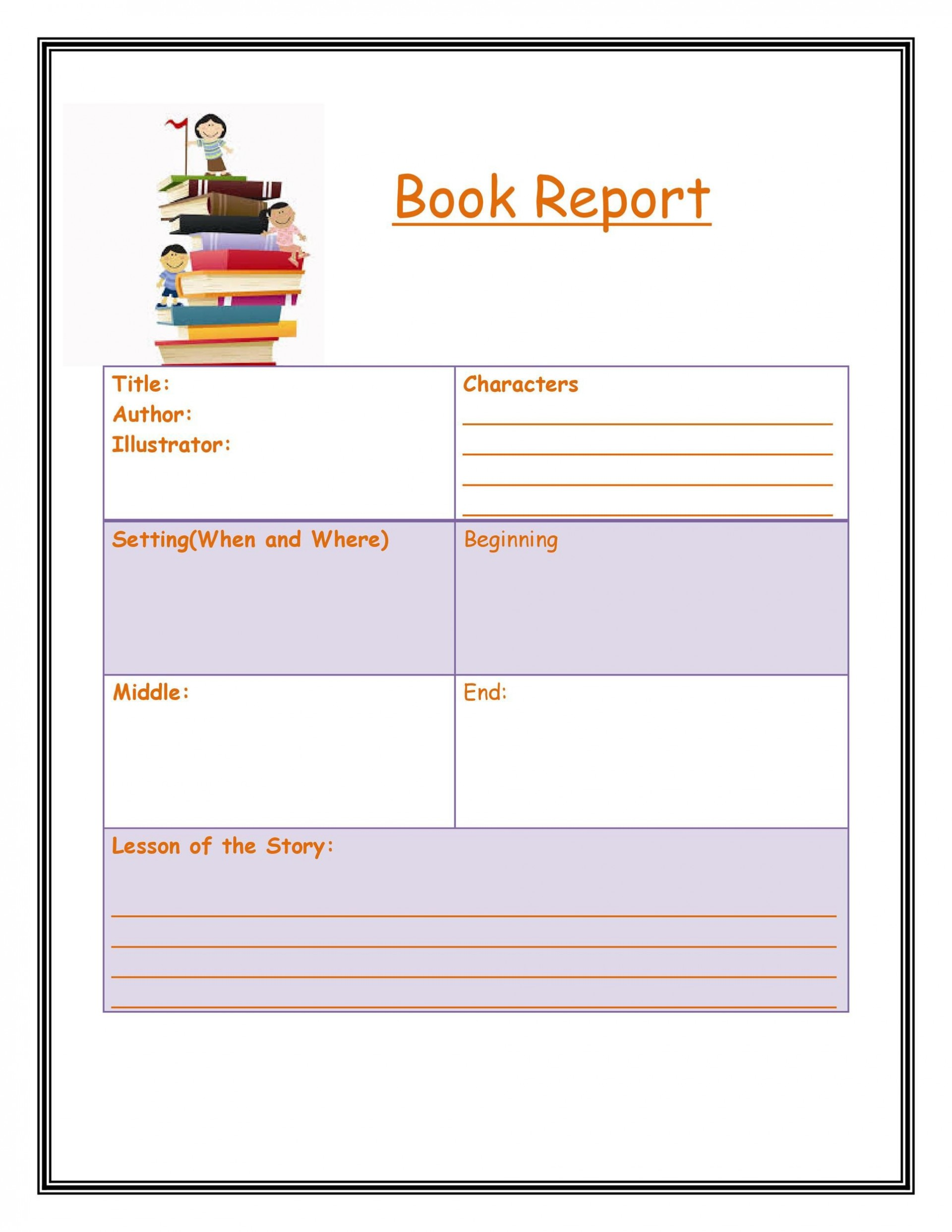 004 Staggering Free Printable Book Report Template For 6th Grade Highest Quality 1920