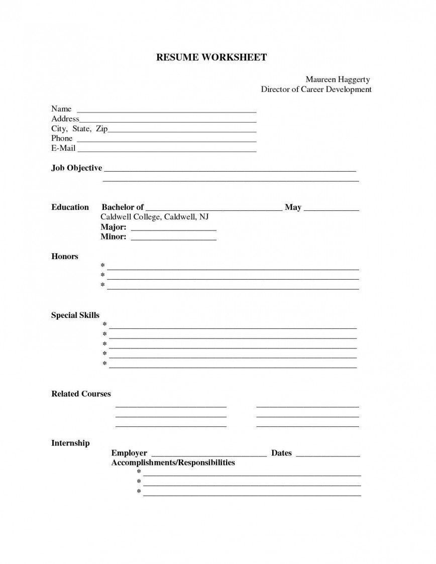 004 Staggering Free Printable Resume Template Blank High Resolution  Fill868