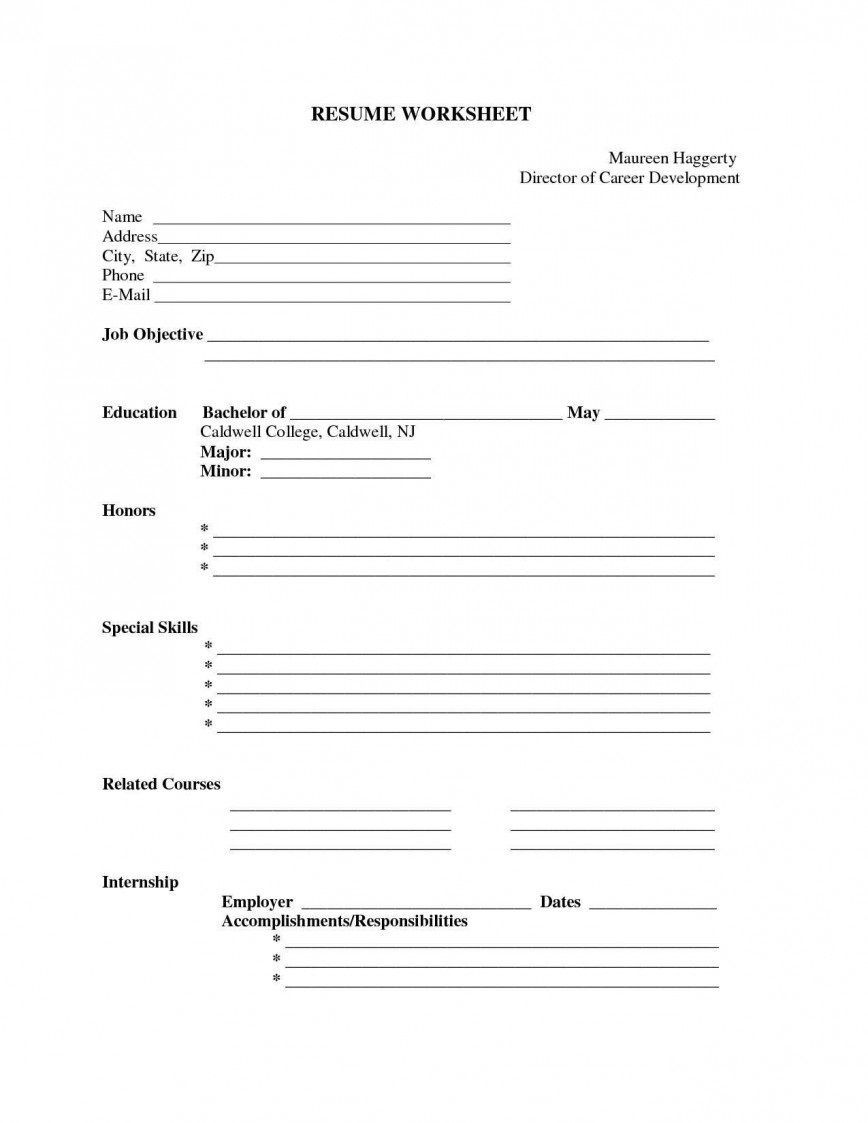 004 Staggering Free Printable Resume Template Blank High Resolution  FillFull