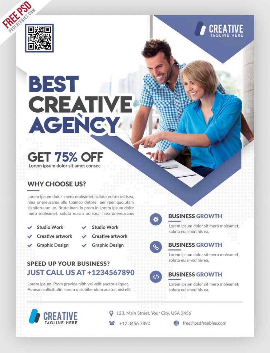 004 Staggering Free Psd Busines Brochure Template High Resolution  Templates Flyer 2018 Photoshop