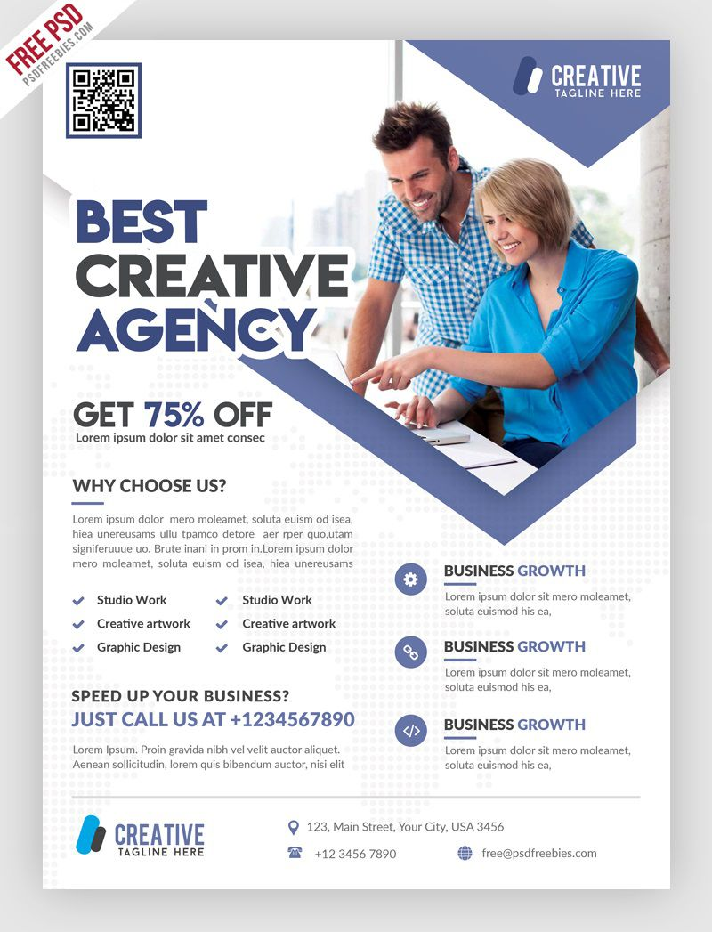 004 Staggering Free Psd Busines Brochure Template High Resolution  Templates Flyer 2018 CorporateFull