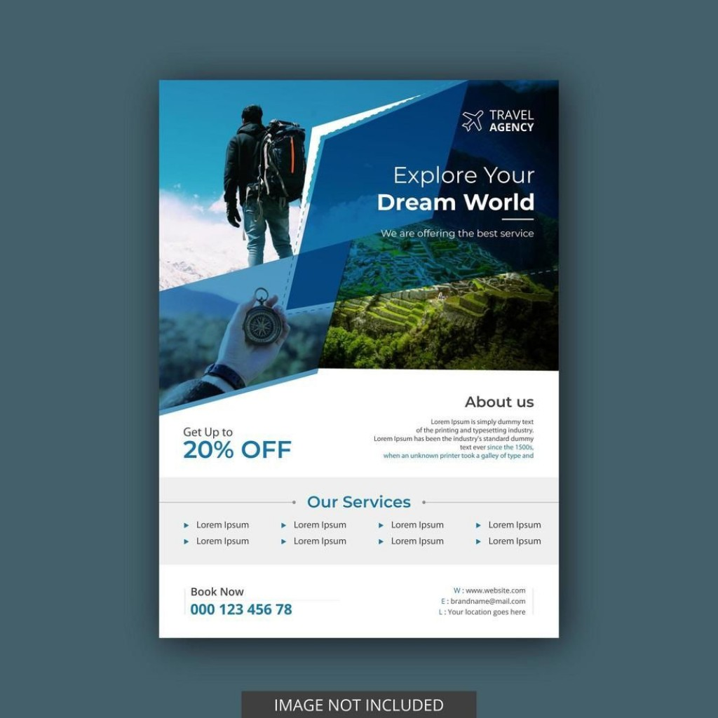 004 Staggering Free Travel Flyer Template Download High Definition Large