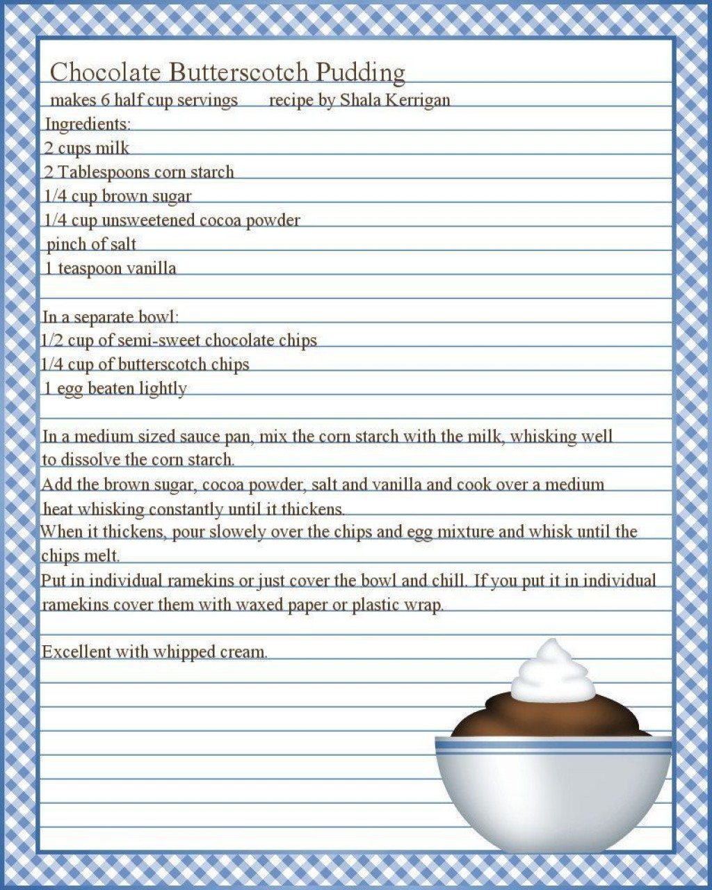 004 Staggering Full Page Recipe Template Editable Example  For Word FreeLarge