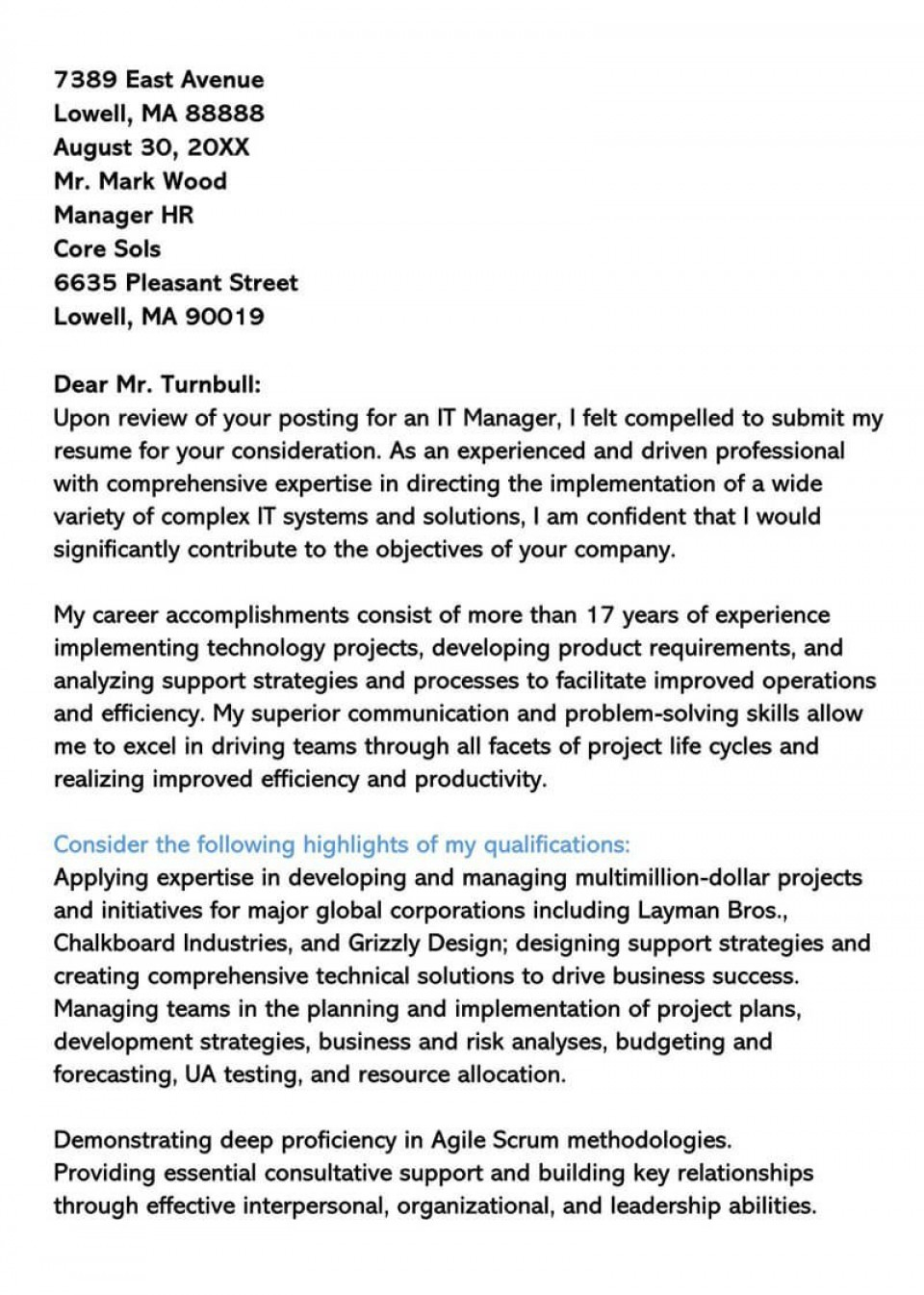 004 Staggering General Manager Cover Letter Template Design  Hotel960