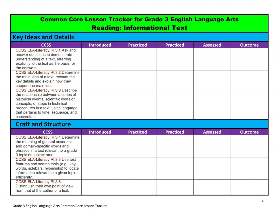 004 Staggering Lesson Plan Template For Kindergarten Common Core High Resolution 960