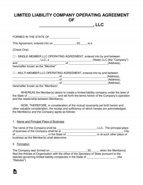 004 Staggering Llc Partnership Agreement Template Idea  Free Operating480