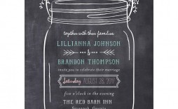 004 Staggering Mason Jar Invitation Template Image  Free Wedding Shower Rustic