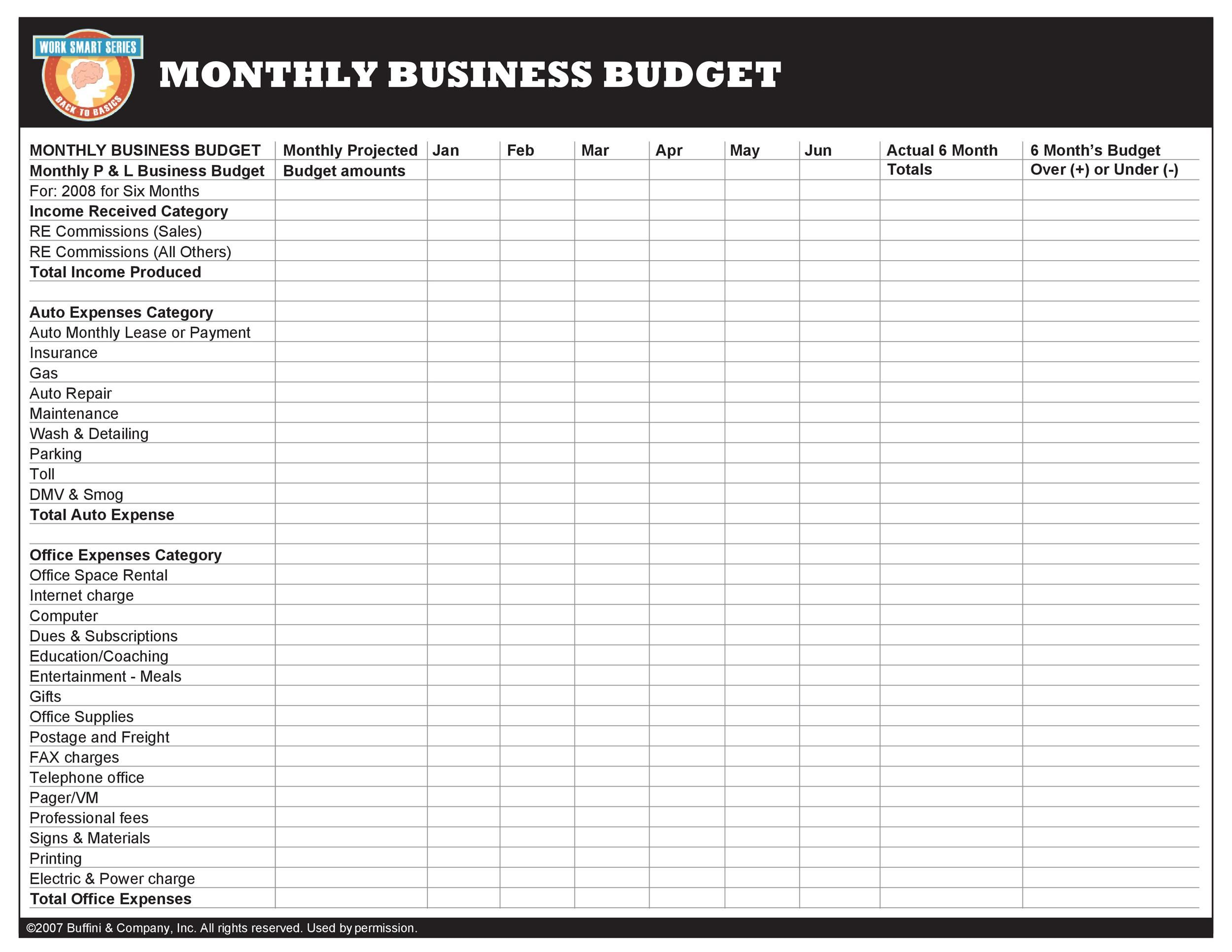004 Staggering Monthly Busines Expense Template Concept  Sheet Excel PdfFull