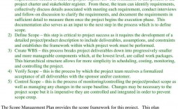 004 Staggering Project Scope Management Plan Template Free Sample