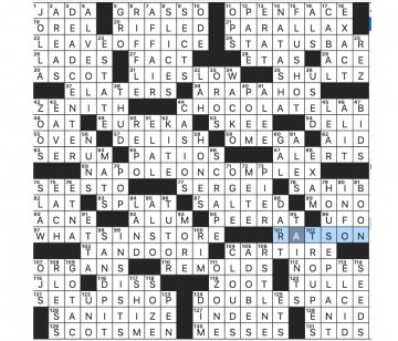 004 Staggering Rascal Crossword Clue Sample  6 Letter 3 Wsj360