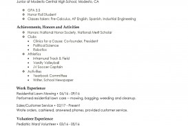 004 Staggering Resume Template High School Student Example  Sample First Job