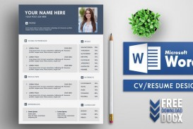 004 Staggering Resume Template Word Free Sample  Download 2020 Doc