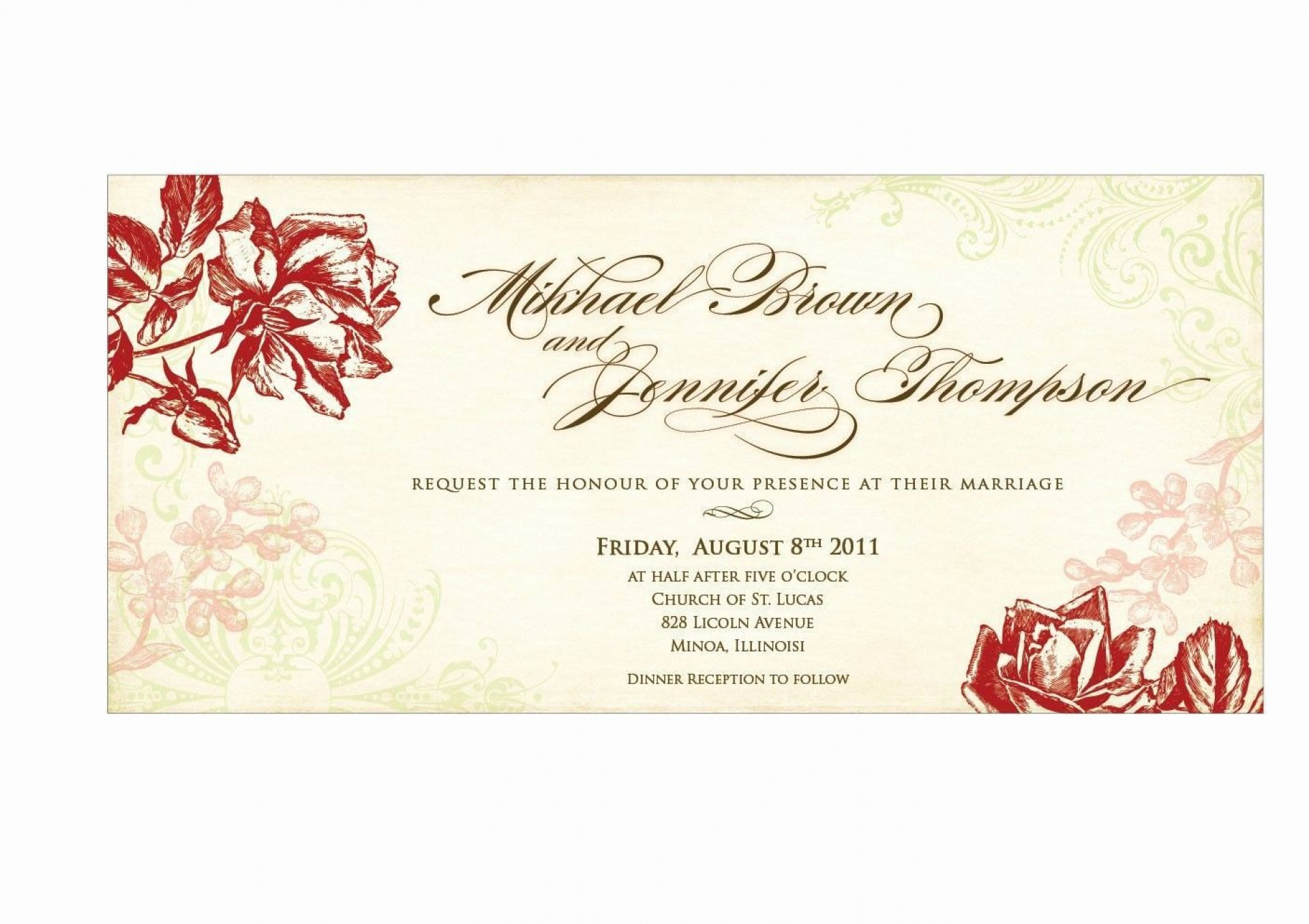 004 Staggering Sample Wedding Invitation Card Template Highest Clarity  Templates Free Design Response Wording1920
