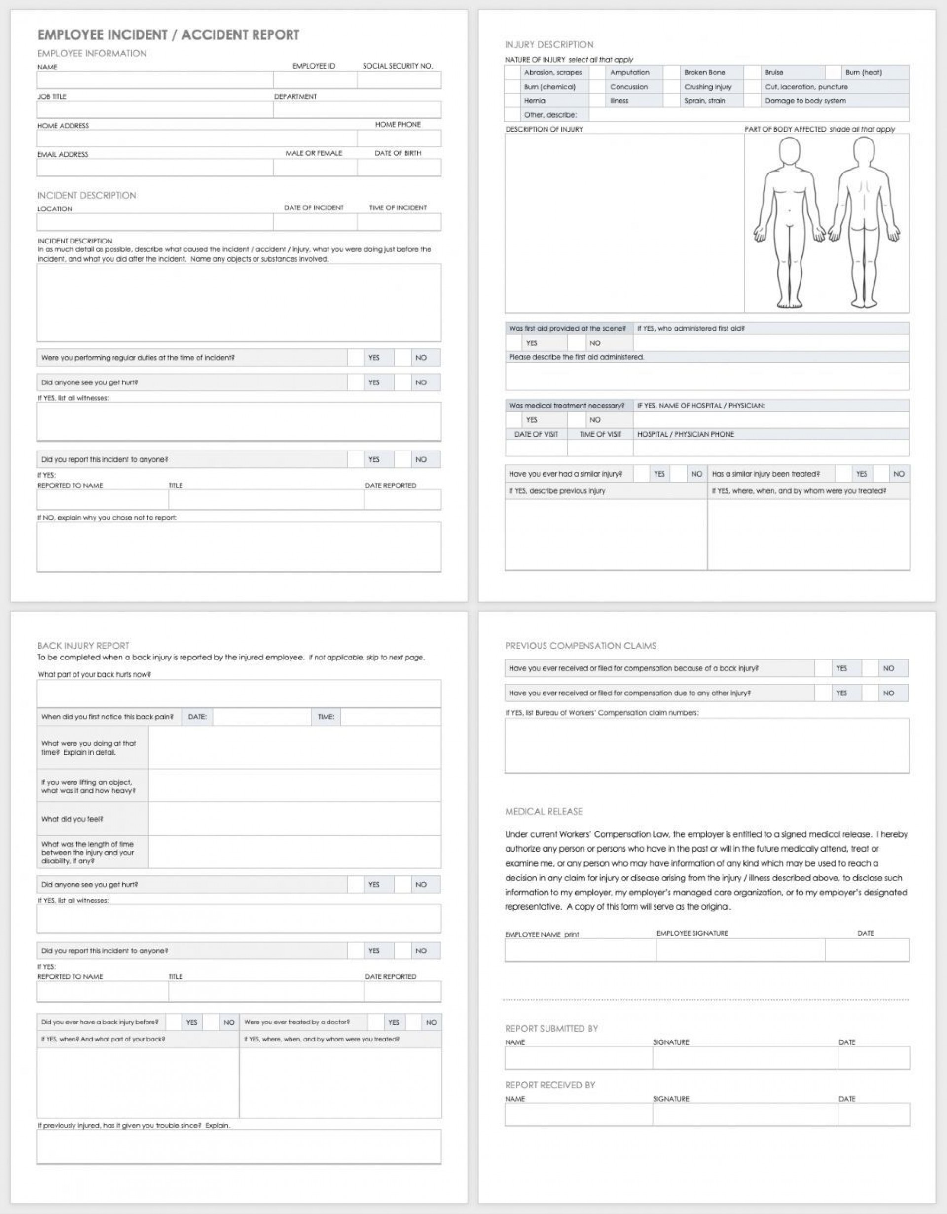 004 Staggering Workplace Incident Report Template Uk Inspiration 1920