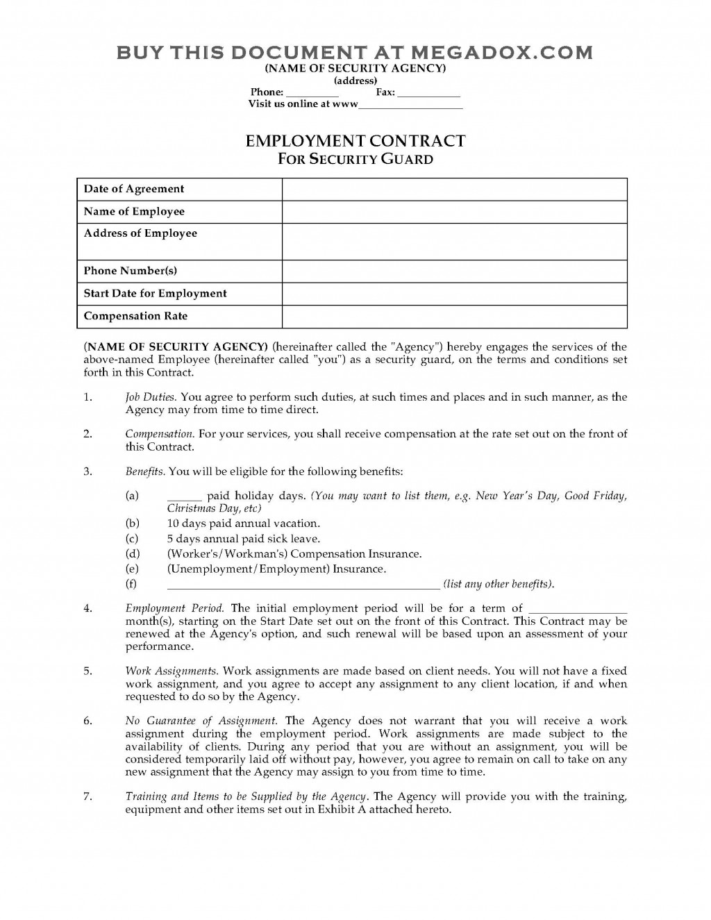 004 Stirring Australian Employment Contract Template Free High Definition Large