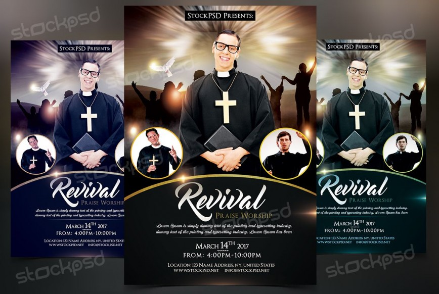 004 Stirring Church Flyer Template Photoshop Free Inspiration  Psd