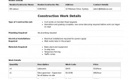 004 Stirring Construction Work Order Template High Def  Word Additional Form Free