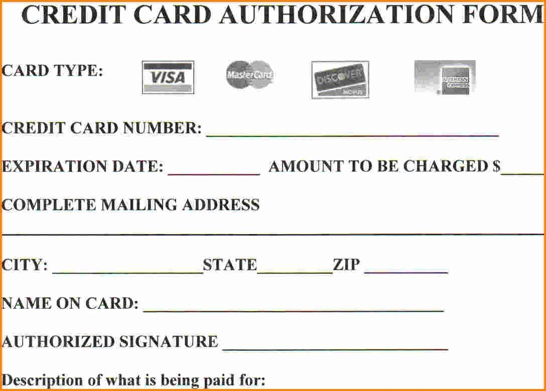 004 Stirring Credit Card Authorization Template Example  Form Pdf Fillable FreeFull