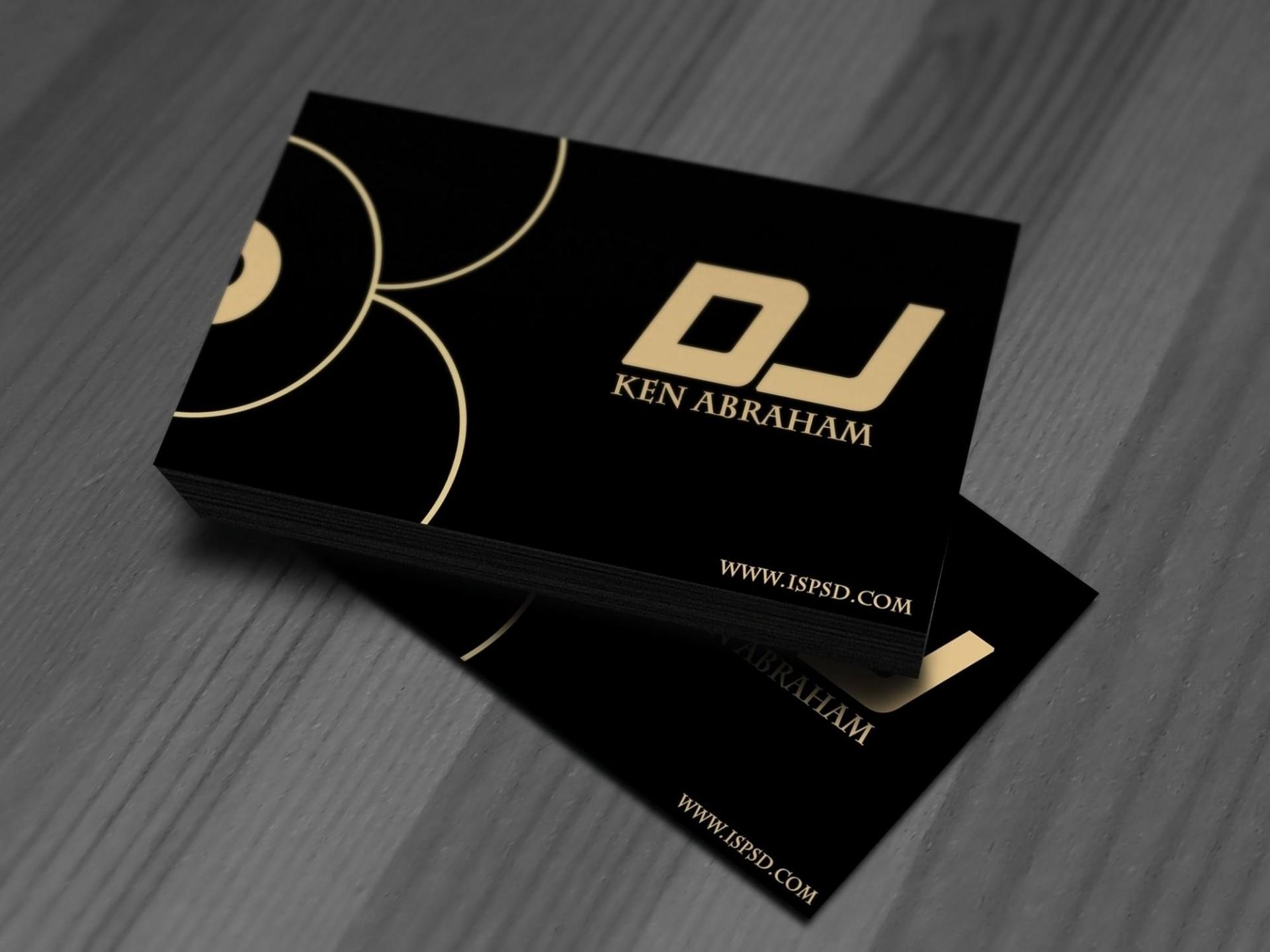 004 Stirring Dj Busines Card Template Image  Psd Free Download1920