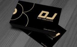 004 Stirring Dj Busines Card Template Image  Psd Free Download